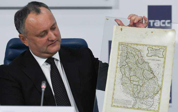 Igor Dodon, harta Moldova Mare