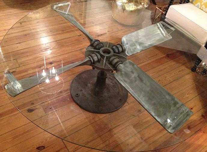 Cum arată mobilierul realizat din piese de la avioane