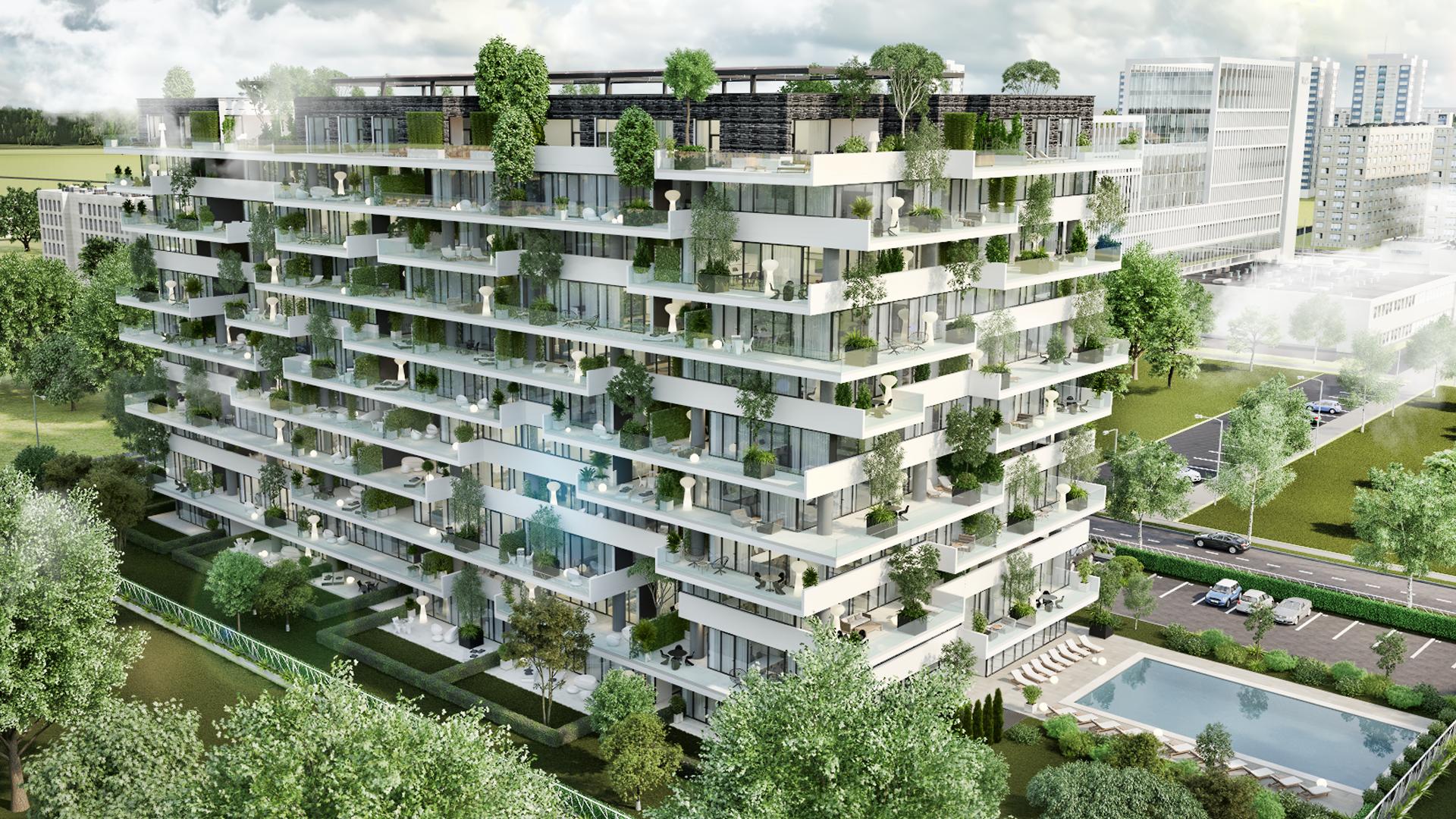Primul proiect rezidenţial cu pădure verticală se construieşte la Timişoara
