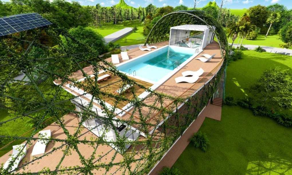 Cum arată casa care colectează apa de ploaie și energia solară