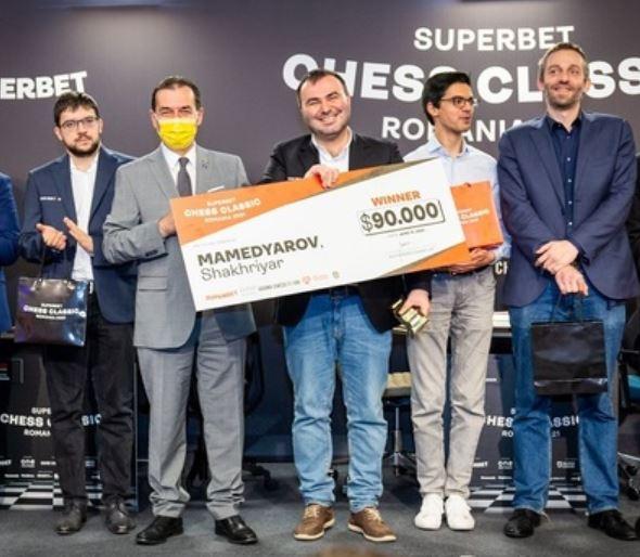Şahistul azer Shakhriyar Mamedyarov, câştigătorul Superbet Chess Classic Romania 2021