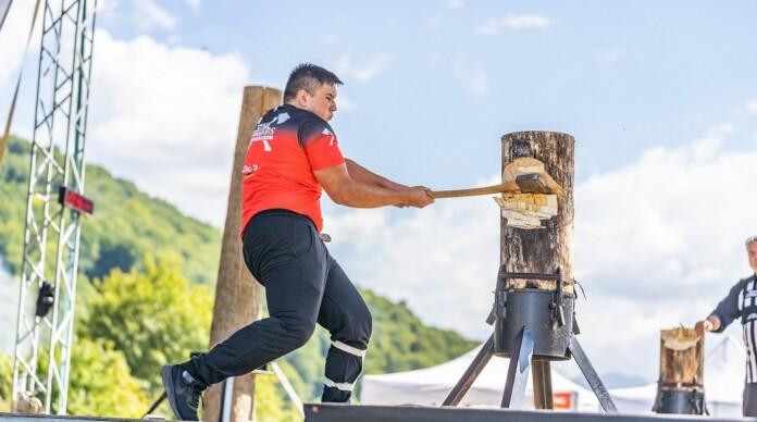 David Balazsi, campion national STIHL Timbersport