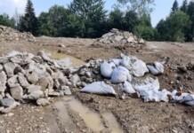 Sinaia, groapă ilegală de gunoi din construcții