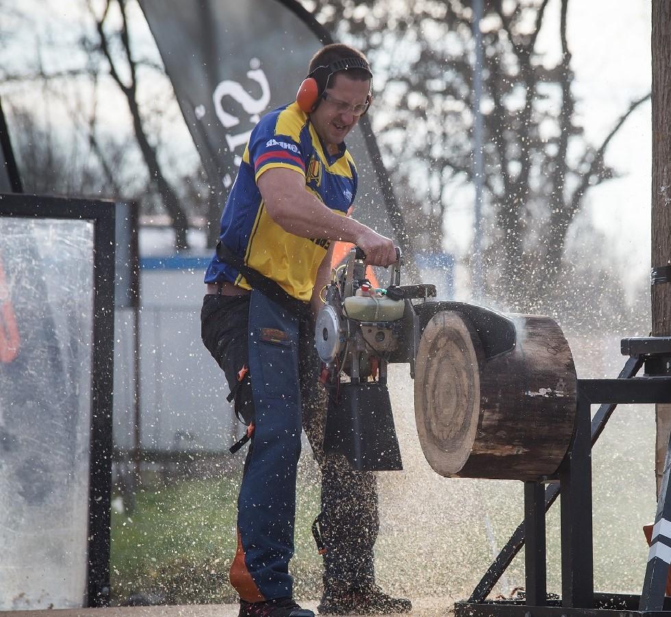 STIHL TIMBERSPORTS: Ionel Mariniță este noul campion național la tăiat lemne