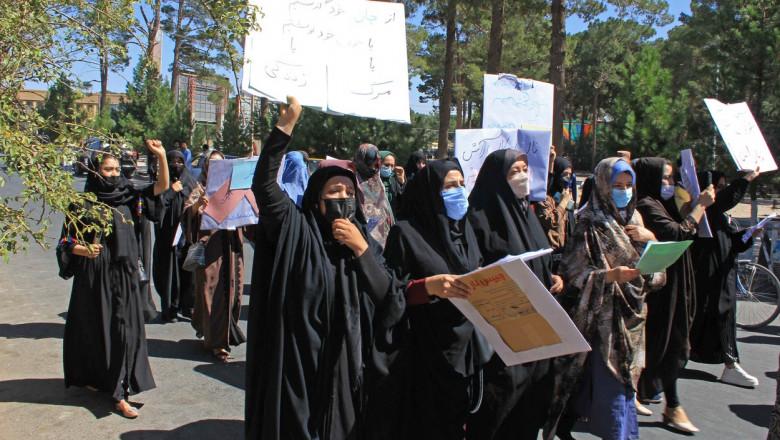 protest femei afgane